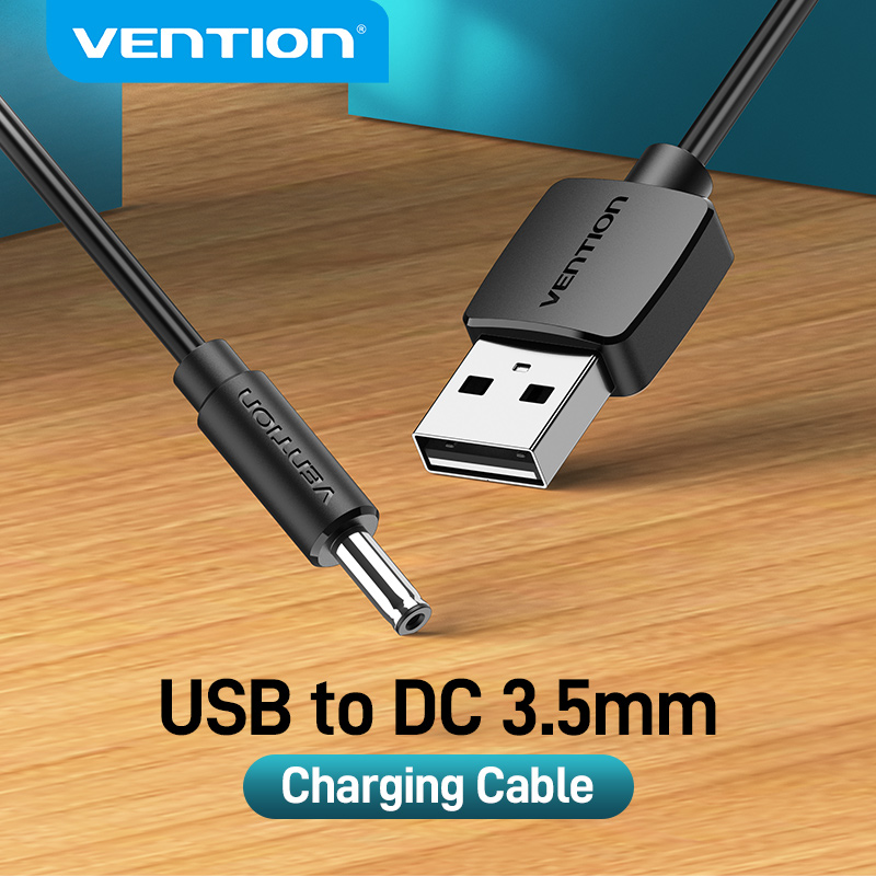 Vention USB to DC 3.5mm Charging Cable USB A Male to 3.5 Jack Connector 5V Power Supply Charger Adapter for USB HUB Power Cable