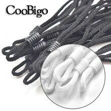 100 Pcs mask Sewing Elastic Band Cord with Adjustable Buckle Stretchy Mask Earloop Lanyard Earmuff Rope DIY Making Supplies