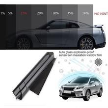 Черная Тонировочная пленка для автомобиля дома стекла здания
