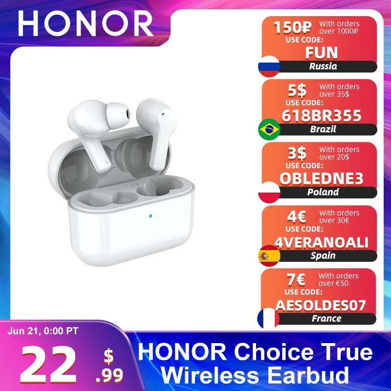 HONOR выбор True Беспроводной вкладыши Bluetooth 5,0 наушники Шум отмены Dual микрофон звонки SBC & AAC 24 часа в сутки Gametime