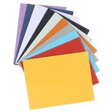 100 sztuk kolor Mini koperty Party Festival Holiday Chic proste kolorowe puste koperty koperty papierowe tanie tanio CN (pochodzenie) 10 x 7 5cm Portfel koperta Zwykłym papierze Other