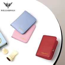 WILLIAMPOLO 100%leather women wallets Slim mini small  purse new fashion luxury designer Brand wallet for hot sale