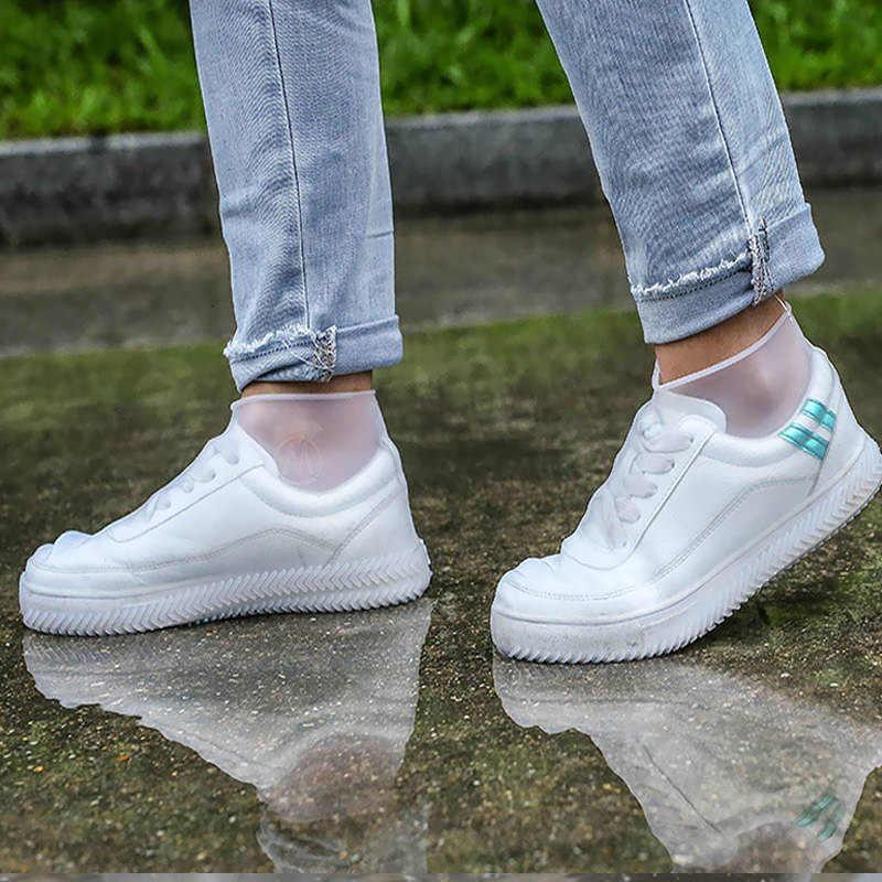2019 الخريف أحذية المطر يغطي أحذية المطر مقاوم للماء يغطي حجم 30-44 عدم الانزلاق النساء/الرجال/الطفل يغطي الأحذية إكسسوارات أحذية