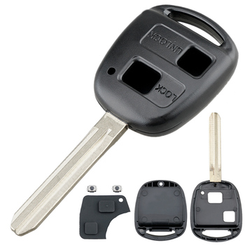 2 przyciski etui na kluczyki do samochodu wymiana Auto obudowa kluczyka do samochodu pasuje do Toyota Yaris Prado Tarago Camry Corolla tanie i dobre opinie CN (pochodzenie) China use for car 0 55 Inches 3 66 Inches 16 G 1 46 Inches EPC_KEY_23R Fit for Toyota Yaris Prado Tarago Camry Corolla