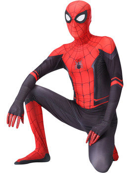 Spider Costume man For Kids Adult Male Spider Hero Halloween Red And Black Polyester Adult Children Mask Suit Tights Anime 2020 halloween costumes for adult spider costume children spider anime cosplay boys spider suit lycra zentai suit