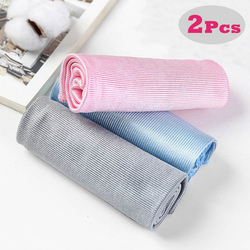2Pcs/lot No Trace Microfiber Cloth Glass Cleaning Towel For Tableware Lint Free Kitchen Dish Towel Window Car Cleaning Towel Rag