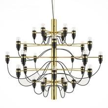Nordic Modern 18/30 /50 light bulbs Gold metal Chandelier for dining room luxury pendant for living room restaurant decoration
