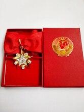 Prachtige Voormalige Ussr Marshal Star Cccp Militaire Eer Medaille Sovjet Unie Heldendom Speciale Badge Hand Ingelegd Zirkoon Shining Gift