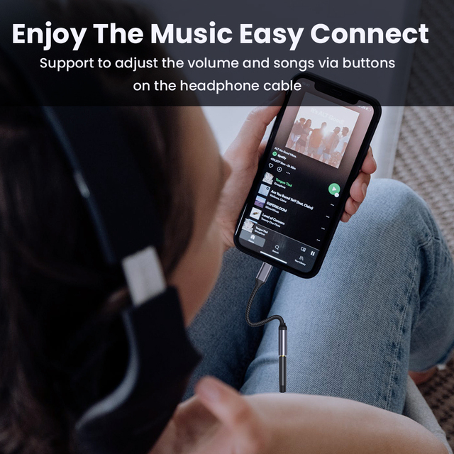 8 Pin to 3.5mm  Jack AUX Cable For iPhone 11 Pro 12 male to female Adapter Headphone Connector Audio Splitter for iOS 14 Above 3