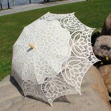 Винтажный ручной работы для фотосъемки, выступления, танцев, сцены, свадебные украшения, кружевной зонтик для невесты, Баттенбург, кружевной зонтик