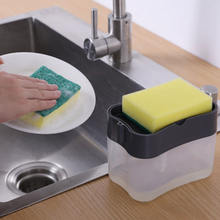 Кухонный дозатор мыла с губчатой коробкой для автоматического