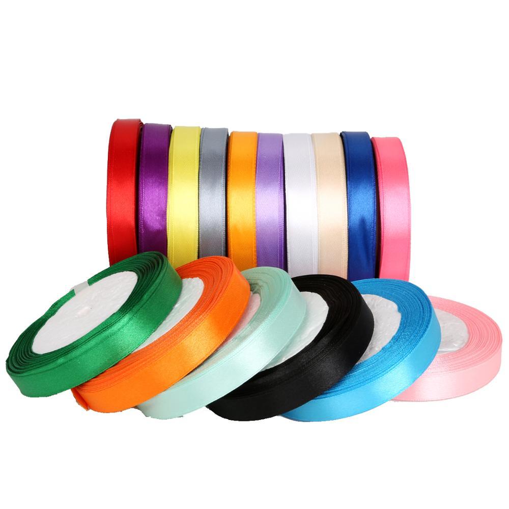 Случайный цвет смешивания 15 видов цветов, 30 ярдов/партия Ширина 13 мм атласная лента для DIY украшения свадебной вечеринки подарочные упаково...