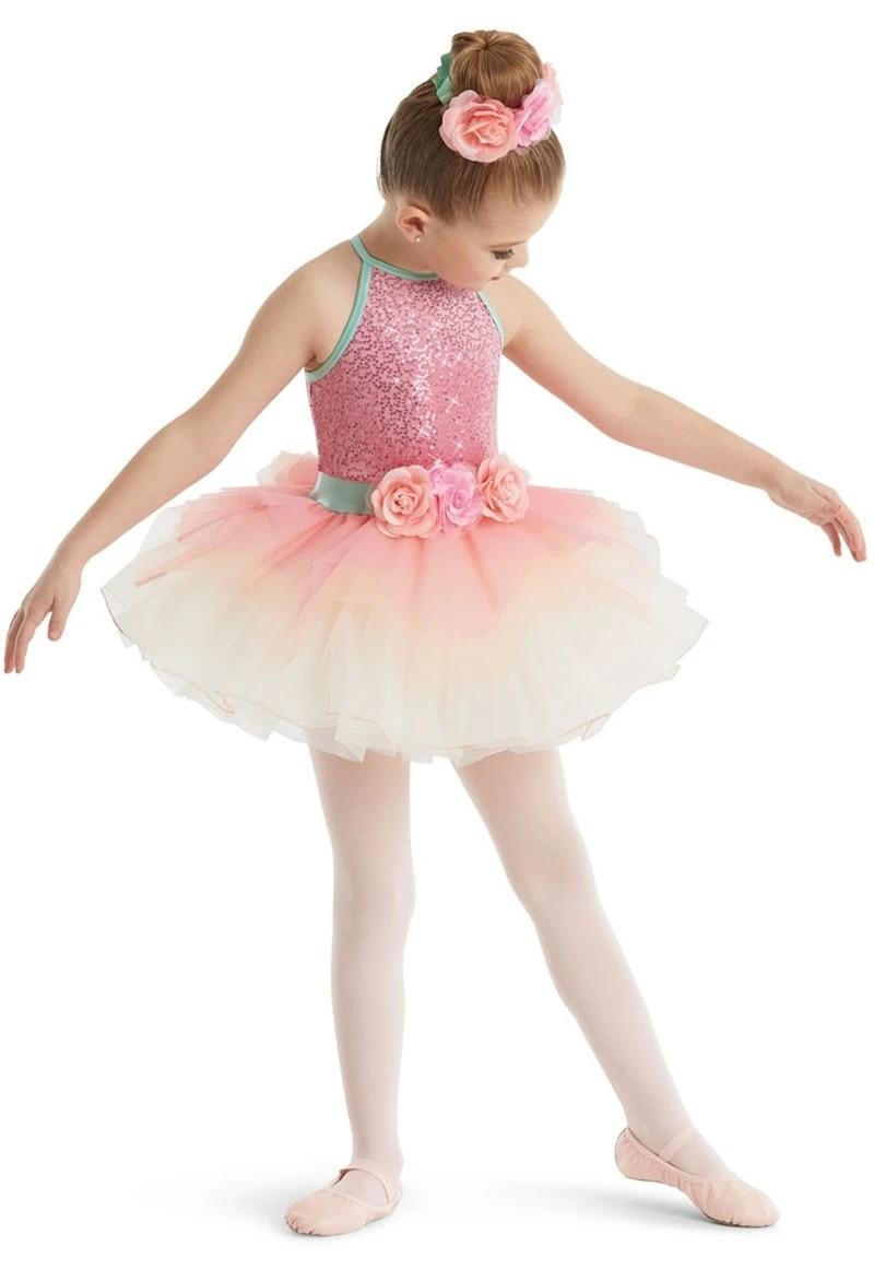 Sequin flower girl ballet leotard