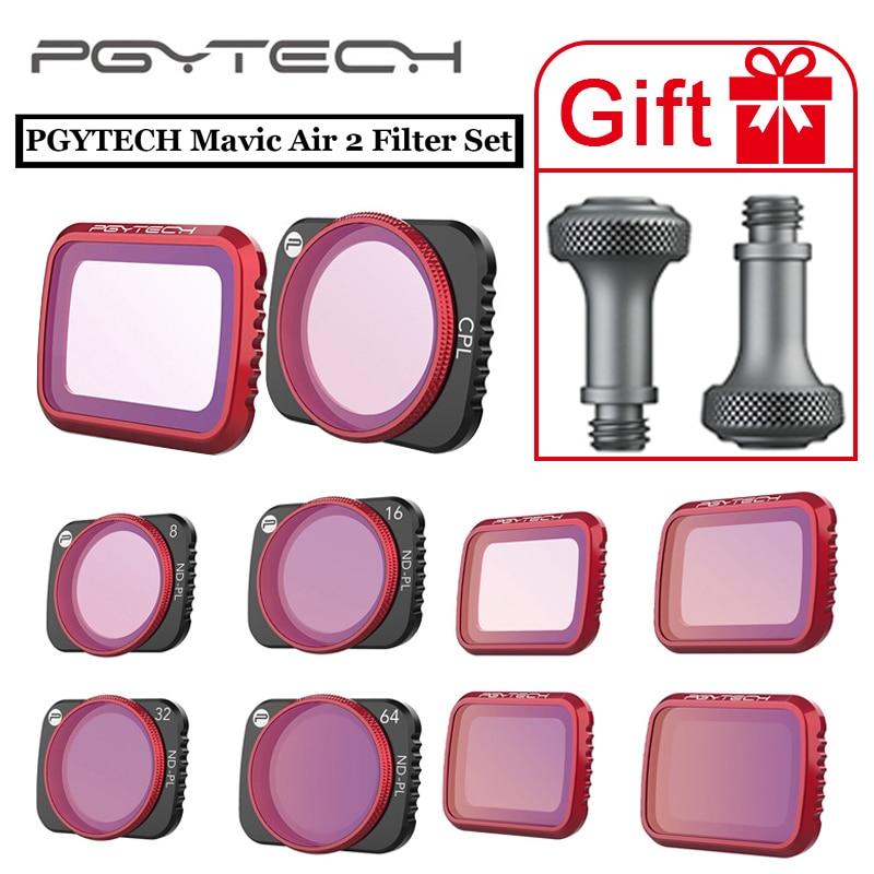 PGYTECH Ulanzi Dji Mavic Air 2 UV CPL ND NDPL 8 16 32 64 Filter Set 1 33X Anamorphic Lens Drone Camera Filter Accessories
