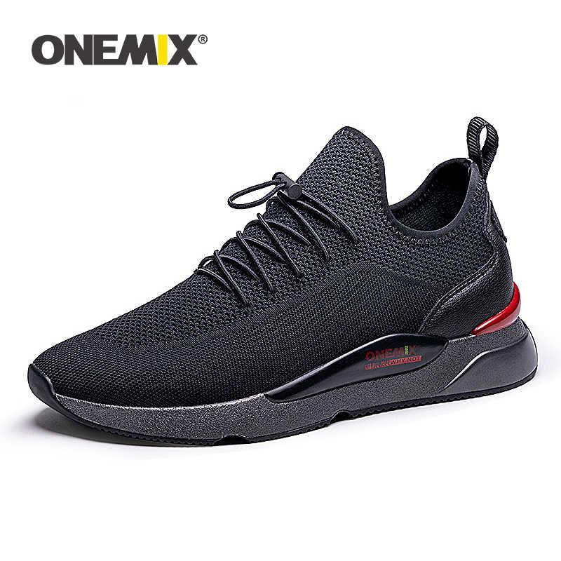 New Arrival ONEMIX męskie buty do biegania czarne buty zapato deportivo odkryty lekkoatletyczny Walking Jogging Walking buty sportowe białe
