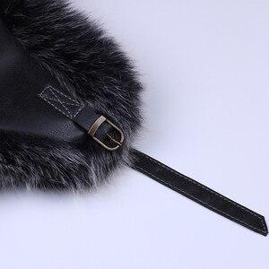 Image 5 - VINTAGE BOMBER หมวก Faux Fox ขนสัตว์นักบิน Aviator Trooper หนัง Earflap รัสเซีย Ushanka Men ฤดูหนาว WARM Plush Snow สกีหมวก