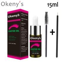 15ml Castor Oil Eyebrow Growth Serum Hair Growth Serum Eyelash Enhancer Growth Lifting Eyelashes Thick Eye Lashes Mascara