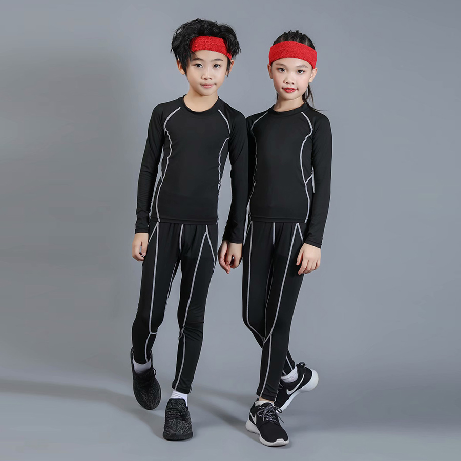 Boys Ski In Winter Thermal Underwear Sets Kids Functional Shirts And Pants Girls Sports Set Kids Quick Dry Shirts And Pant