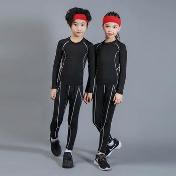Chłopcy narty w komplety bielizny termicznej dzieci funkcjonalne koszule i spodnie dziewczęce zestaw sportowy dla dzieci szybkoschnące koszule i spodnie tanie i dobre opinie BAOGEYANG CN (pochodzenie) Pasuje prawda na wymiar weź swój normalny rozmiar Stałe Oddychające 300+301+505 O-neck Poliester