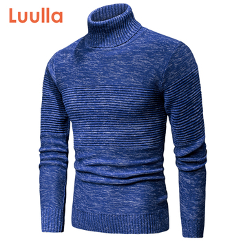 Luulla Men 2020 Spring New Casual Knitted Cotton Turtleneck Sweaters Pullover Men Autumn Brand Fashion Mixed Color Sweater Men