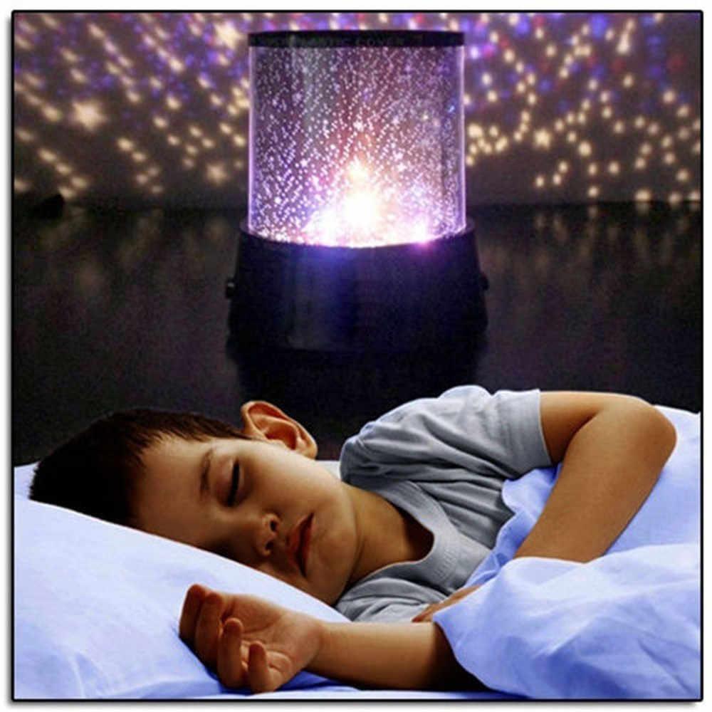 LED veilleuse lampe de projection ciel étoilé romantique coloré chambre d'enfants veilleuse chambre décoration cadeau