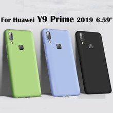 Candy color silicone soft Case for Huawei Y9 Prime 2019 Cover Soft Back Phone Cover For Huawei Y 9 Prime 2019 Phone Cases y9 s candy color silicone soft case for huawei y9s cover soft back phone cover for huawei y 9s phone cases
