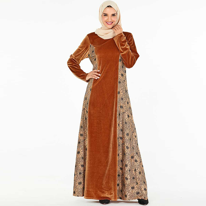 Plus Size Velvet Abaya Dubai Hijab Muslim Dress Turkish Dresses Islamic Clothing Abayas For Women Caftan Kaftan Robe Musulman