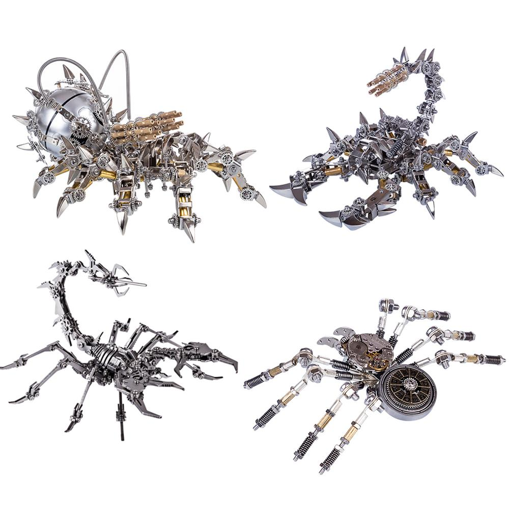DIY Assembled Model Kit 3D Stainless Steel Mechanical Model - War Scorpion