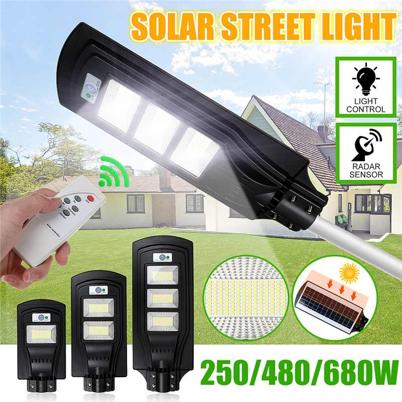 150/300/450LED Sensor Solar Panel Wall Street Light PIR Motion Lamp Waterproof IP67 50mm Mounting Pole For Outdoor Lighting