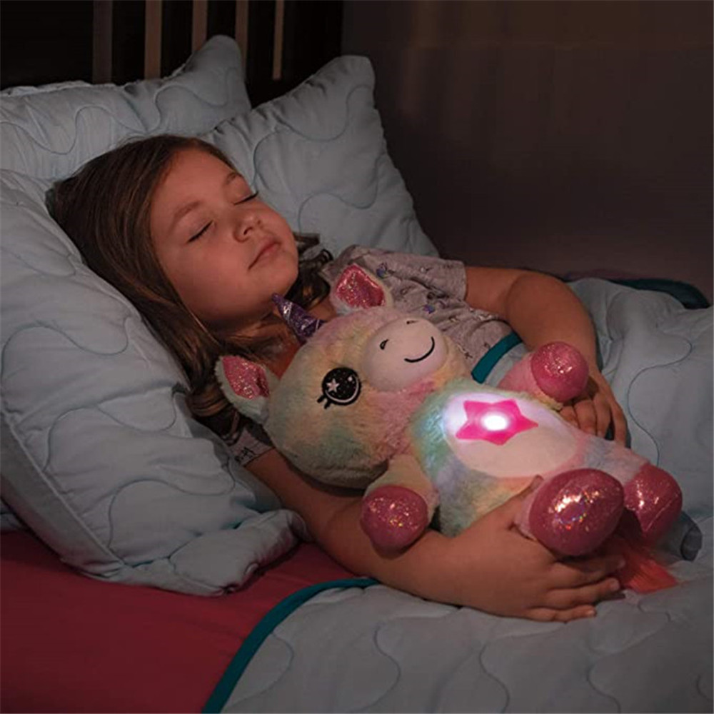 Stuffed Animal With Light Projector In Belly Comforting Toy Plush Toy Night Light Cuddly Puppy star belly dream lites Christmas