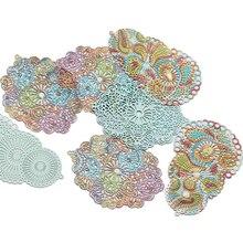 10 unids/lote Gradient Rainbow hueco de cobre tótems encantos colgante DIY hecho a mano pendiente de joyería de Material