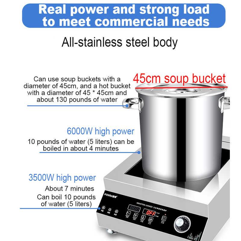 6000W otantik yüksek güç indüksiyon ocak ticari yangın kazan su geçirmez ocak brülör restoran tencere soba