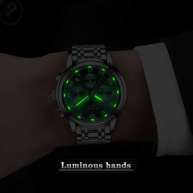 2020 ใหม่LIGE Luxury Mensนาฬิกากันน้ำนาฬิกาวันที่ชายกีฬานาฬิกาผู้ชายQuartzนาฬิกาข้อมือนาฬิกา + กล่องrelogio Masculino