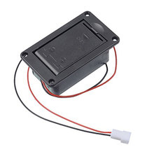 Active Bass Guitar Pickup 9V Battery Boxs/Holder/Case/Compartment Cover With Metal Contacts Spring And 2 Pin Plug with Cable(China)
