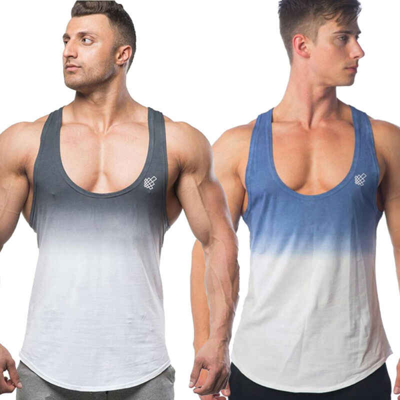Gym Men Muscle Sleeveless Tank Top Tee T-Shirt Bodybuilding Sport Training Vest