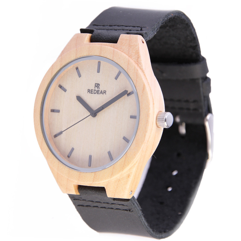 2019 Promotion New Arrival Maple Mywood Watch Brand Popular Patent Leather Strap Fashion High-grade Wooden Watches A Undertakes