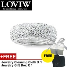 White Pave Eternity Ring,drop shipping Style Fashion Good Jewerly For Men & Women Gift 925 Sterling Silver,Super Deals