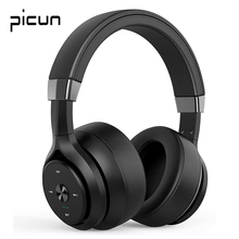 Picun P28S Wireless Headphones Bluetooth 5.0 Stereo Bass Headset With Mic Over Ear HiFi Monitor DJ Headphones For Phone PC Gamer