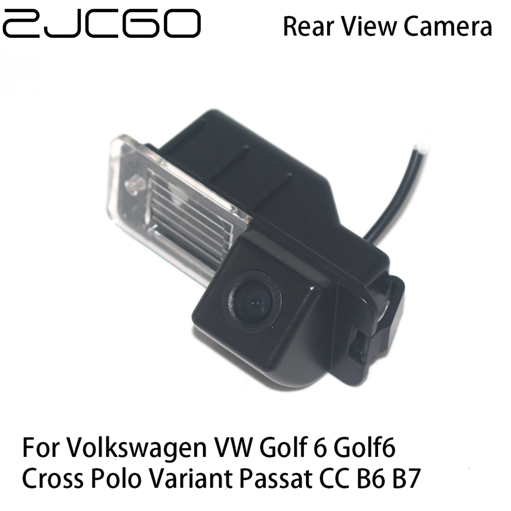 ZJCGO Car Rear View Reverse Back Up Parking Camera for Volkswagen VW Golf 6 Golf6 Cross Polo Variant Passat CC B6 B7|Vehicle Camera| - AliExpress