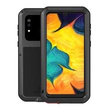 Cassa del Metallo amore Mei Per Samsung Galaxy A30 A20 Armatura Antiurto Copertura Del Telefono Per Samsung A30 A20 Robusto Corpo Pieno anti Caduta Caso
