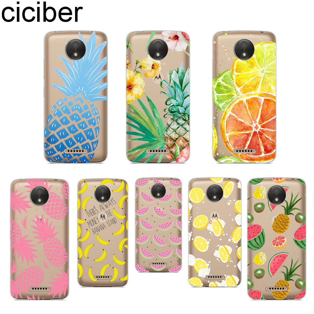 Phone Case For Motorola Moto ONE C Z2 Z3 G5 G4 G5S G6 P30 E3 E4 E5 Plus Play Power X4 Soft TPU Cover Coque Summer Fruit
