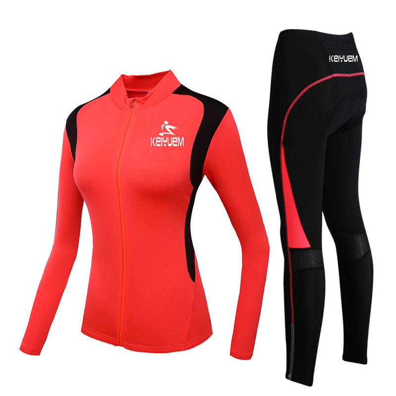 New Red Winter Cycling Clothing Women thermal fleece cycling jacket long sleeve bike bicycle clothes Ciclismo Roupa Mujer