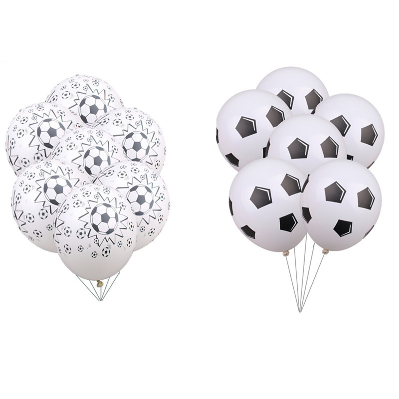 10 PCS 12 Inch Balloon Latex Football Theme Decor Supplies Birthday Decorations Babyshower Helium Balloons kids Wedding Party in Ballons Accessories from Home Garden