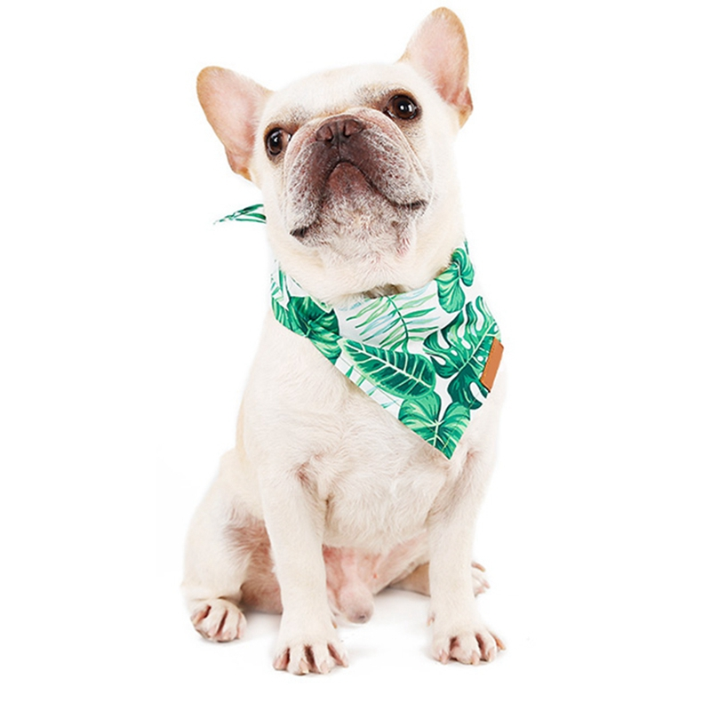 Pet Dog Cat Bandana Bibs Tropical Rainforest Style Puppy Adjustable Scarf