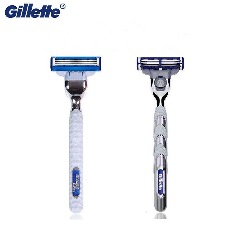 Men Shaving Razor Gillette Turbo With Replacement Razor Blades Original Handle Male Face Care Cassette Manual Razor