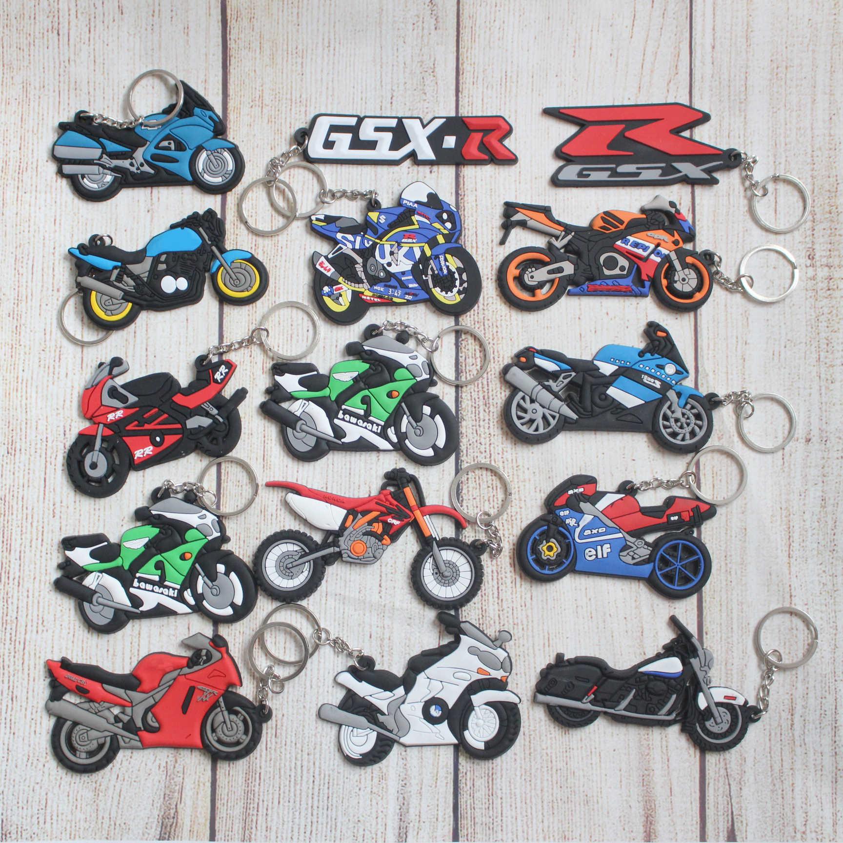 اكسسوارات الدراجات النارية المفاتيح كيرينغ Keyfob المطاط حلقة رئيسية لهوندا كاواساكي BMW سوزوكي ياماها