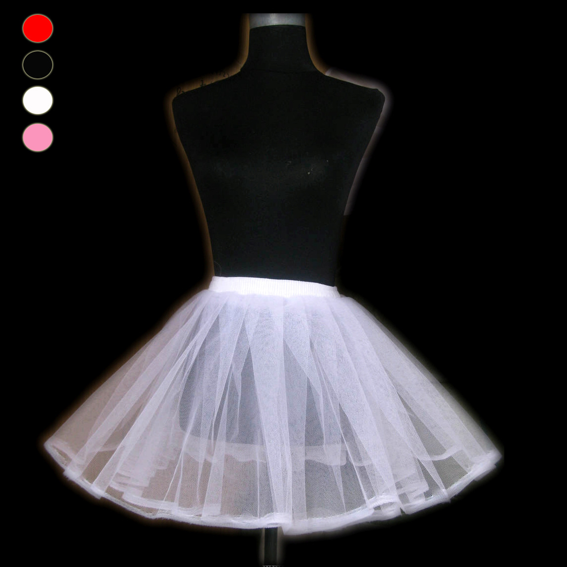 Small Ballet Crinoline Wedding Dress Sexy Boneless Double Layer Hard Gauze Tutu Skirt W212 Black And White Pink