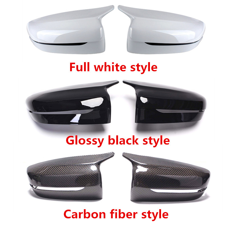 1 Pair M Look type LHD Rearview Mirror Cover For G11 G12 Rear Side View mirror caps For 5 Series G30 G38 2017+