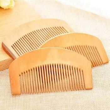 Расческа для волос (8,7×5 см) из персикового дерева