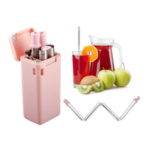 Straw hydro flask water bottle New metal straw portable silicone straw stainless steel straw